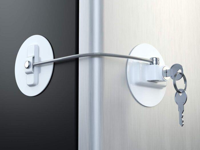 Muin Refrigerator Door Lock Kit With 2 Keys Worthpin Refrigerator Lock Fridge Lock Key Lock