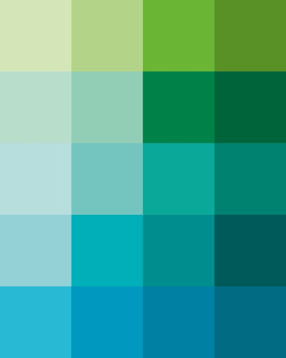 Shades Dew Art Print Pantone Color Blocks Of Mint Green