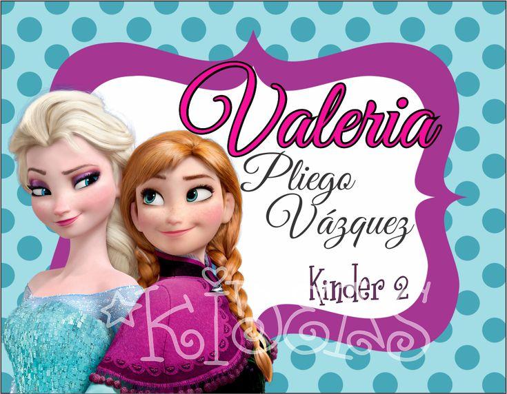 Frozen Elsa y Ana #back2school #etiquetas #escolares #stickers #etiquetatodo #maskideas