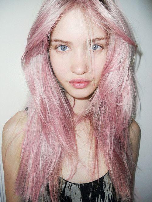 Pink hair, fresh skin