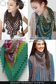 DiaryofaCreativeFanatic: Needlecrafts - Knit,Crochet - Triangle Scarves