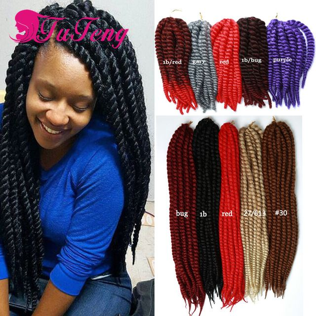 17 best images about tuteng hair on pinterest wand curls jumbo braids and crochet twist - Crochet braids avec xpression ...
