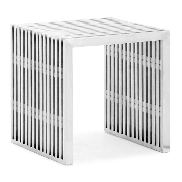 Zuo Modern Novel Single Bench, Silver
