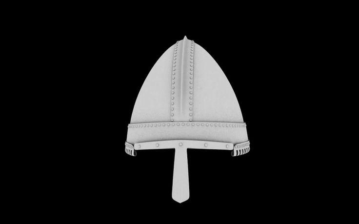 Digital reconstruction of helmet from Bojná, Stromovka -Gnëzdovo type, 9th century, Great Moravia. It is only example of helmet from Great Moravia. https://www.generosity.com/fundraisers/the-helmet-from-bojna