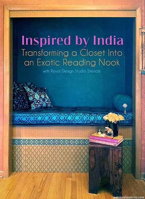 Nomadic Decorator | A DIY Indian-Inspired Closet Nook | http://nomadicdecorator.com