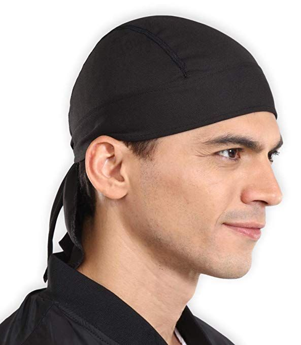 Sweat Wicking Cooling Helmet Liner Do Rag Skull Cap Beanie For