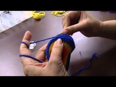 Aula de gorrinho em crochê dinossauro parte 1 - Luciane Mareth - YouTube