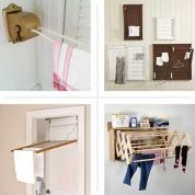 """The design for this clothes """"airer"""" dates back to the Victorian era. The pulley system, a small-space solution, allows you to lower the rack for loading and raise it out of sight for drying.Sheila Maid Clothes Dryer, about $170; Williams-Sonoma"""