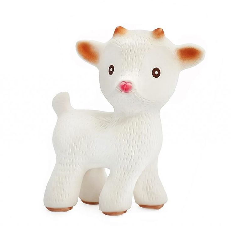 caaocho® Sola the Goat Natural Rubber Teether Toy | Sold at Simply Natural Baby Store™