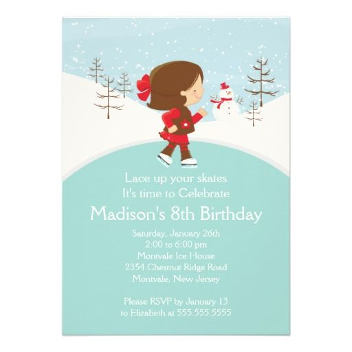 557 best Ice Skating birthday theme images on Pinterest Christmas - best of invitation birthday party text