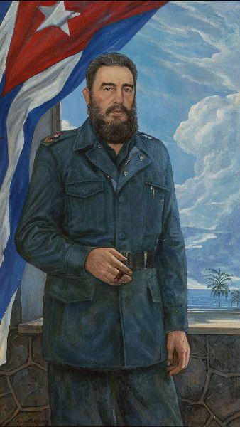 Фидель Кастро   1983 год  Холст, масло. 200×100
