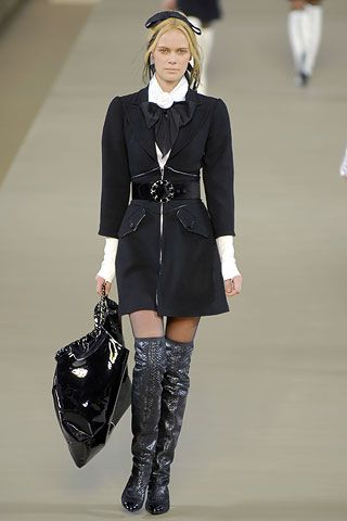 Chanel fall 2006> That coat/shirt look cute. Not feeling those boots at all though...