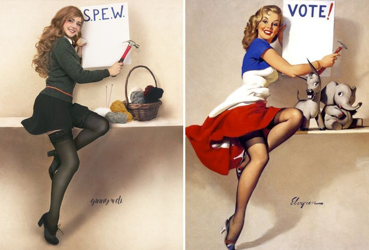 Kotaku cosplay regular Ginny Di returns here with a super cool tribute to Gil Elvgren's iconic pin-up art, giving the 20th century illustrations a Harry Potter twist.
