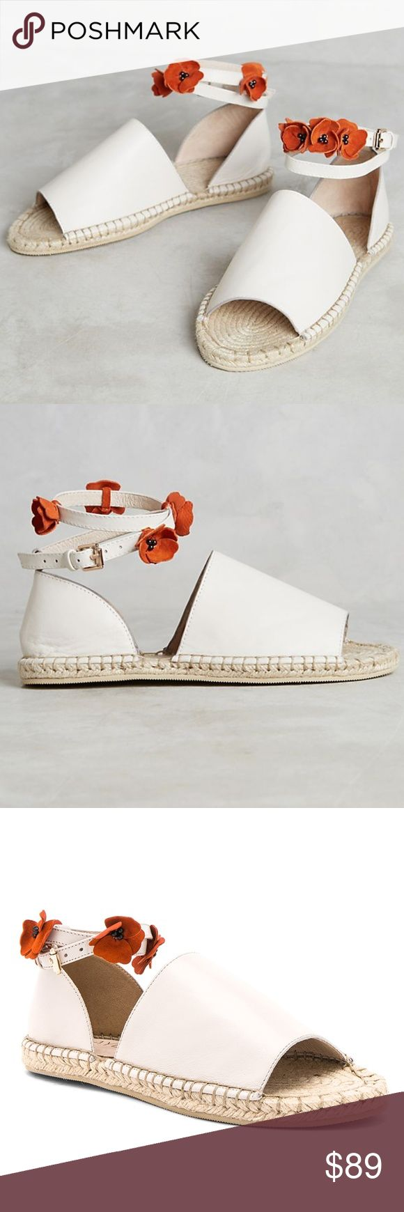 NWT ANTHROPOLOGIE Raye Daphne Floral Espadrilles Brand new with tags NWT ANTHROPOLOGIE Raye Daphne Floral Espadrilles.  Fits true to size Canvas upper Suede flower embellishments Leather insole Raffia sole Ankle Tie Photo credit to Anthropologie & Revolve Anthropologie Shoes Espadrilles