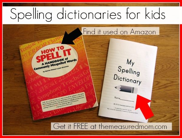 Help young writers edit: Get a spelling dictionary for kids!