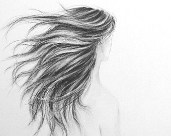 how to draw hair with charcoal pencils