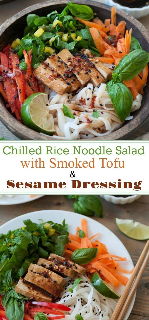 Chilled Smoked Tofu & Sesame Noodle Salad