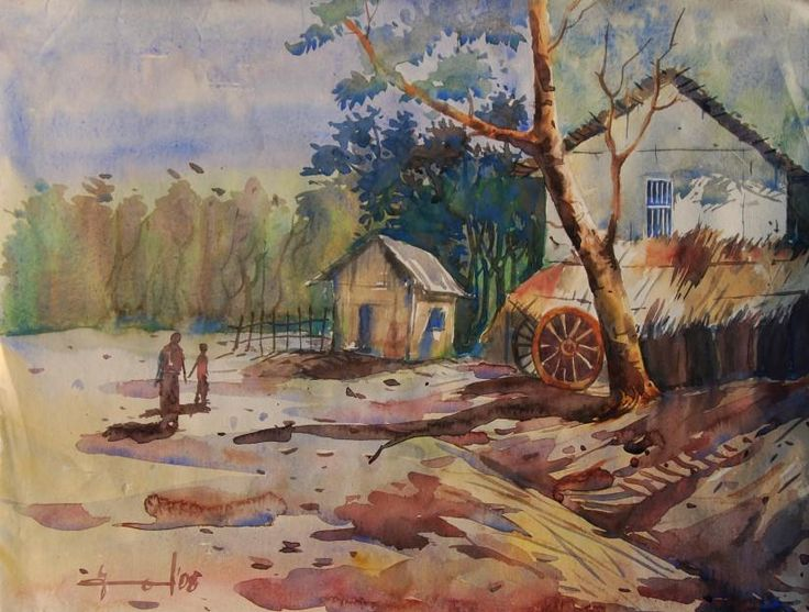 Village Life Paintings Easy 17 Best images about a...