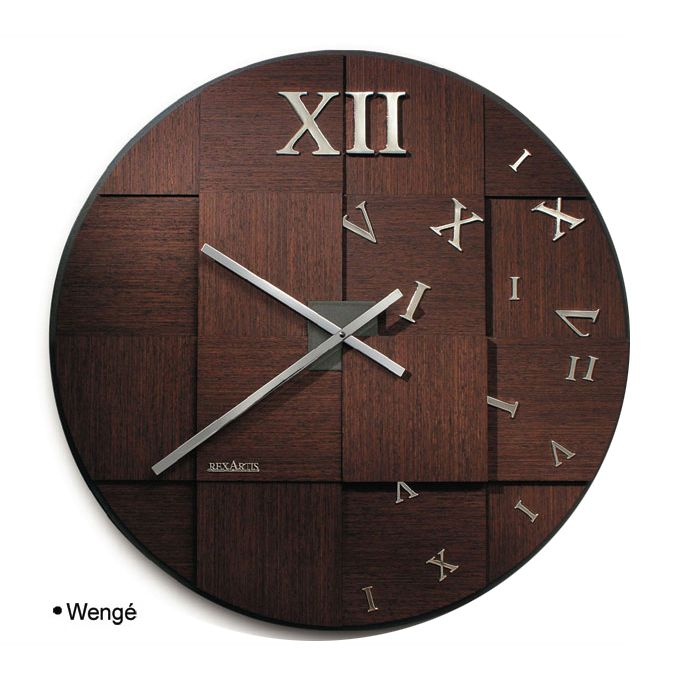 Orologi da parete di design in legno weng e - Orologi di design da parete ...