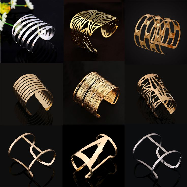 Vrouwen Unisex Charm Armbanden Fashion Vintage Armbanden Eenvoudige Geometrische Stijl Pop Punk Metalen Armband Goud Armbanden 12 Soorten