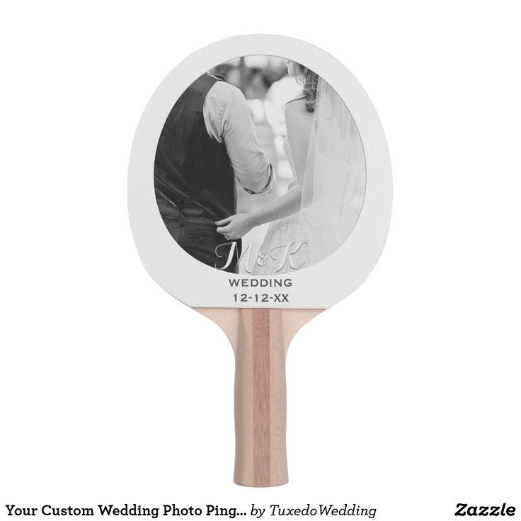 Your Custom Wedding Photo Ping Pong Paddle