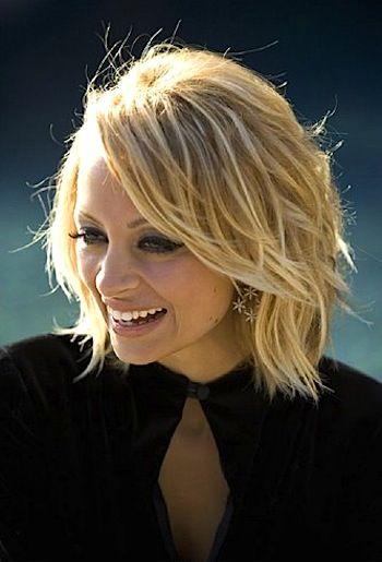Nicole Richie chop haircut
