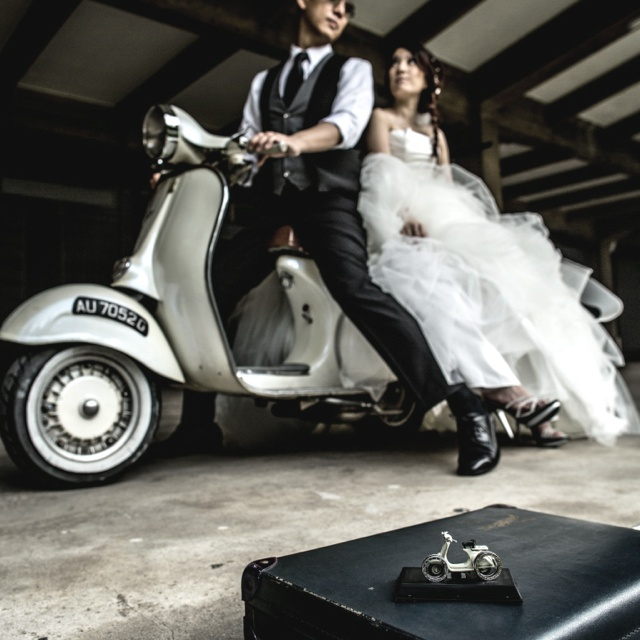 Pre-Wedding Photography made cool with the help of The Vespa. :)
