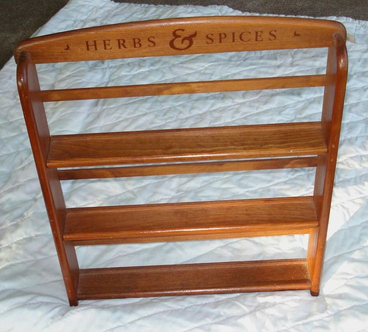 "Mccormick Spice Rack: McCormick Wooden 3-shelf SPICE RACK ""Herbs & Spices"