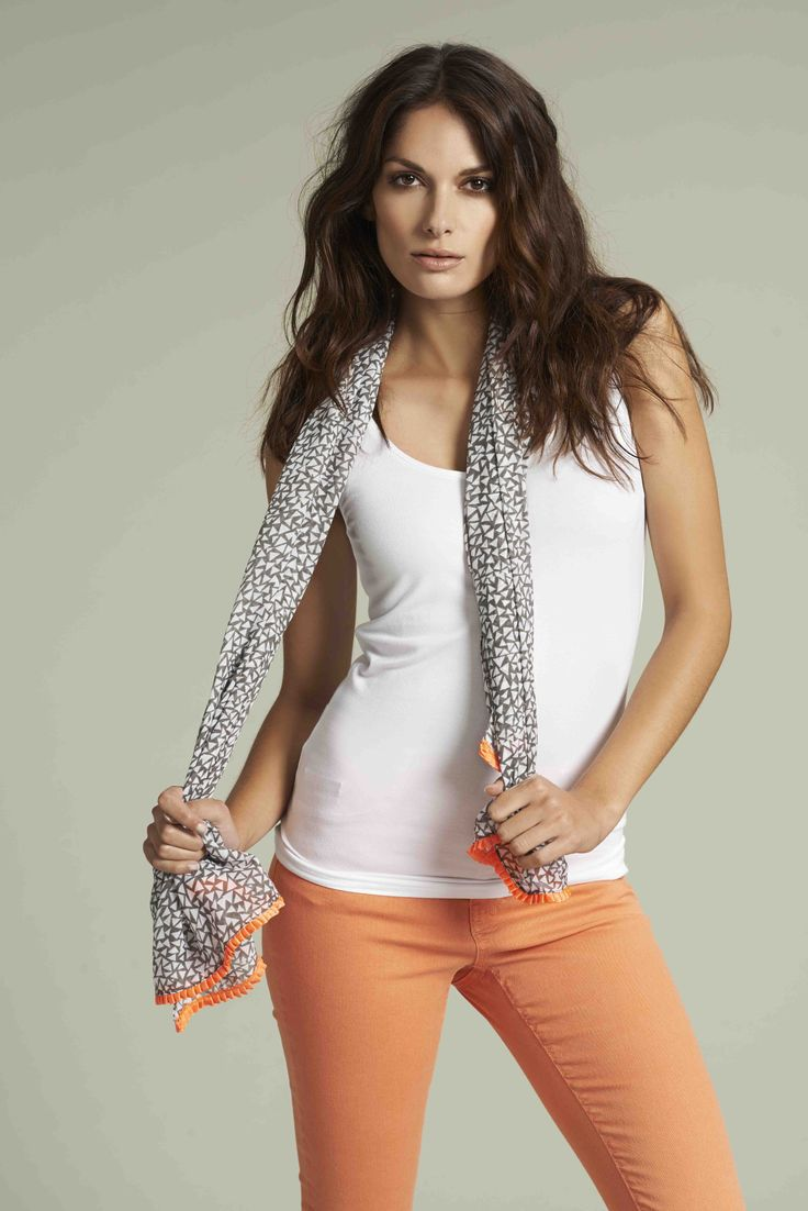 Soyaconcept - top - pants - jeans - scarf