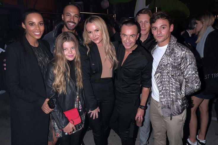 Dustin Lance, Tom Daly, Marvin Humes, Rochelle Humes, Amanda Holden, Amanda Holden's Daughter Lexi Hughes with Designer Julien Macdonald - Photos Courtesy of BMPR for Julien Macdonald