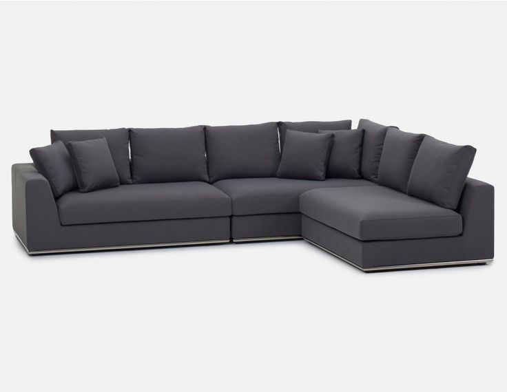 HORIZON - Canapé d'angle modulaire - Gris