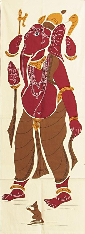 Appliqued Ganesha - Cloth Wall Hanging