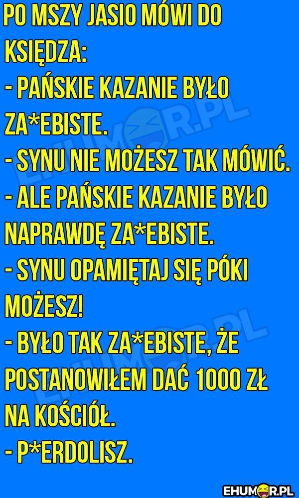 Po mszy Jasio mówi do księdza… – eHumor.pl – Humor, Dowcipy,  Najlepsze Kawały, Zabawne zdjęcia, fotki, filmiki