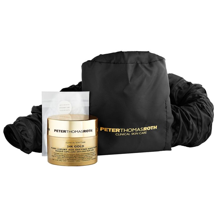 Shop Peter Thomas Roth's 24K Gold Pure Luxury Age-Defying Hair Mask at Sephora.