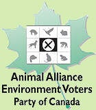 Animal Alliance Enviroment Voters Party Of Canada..........enviroment,animal rights