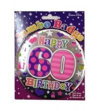 Jumbo Badge Happy 60 Birthday