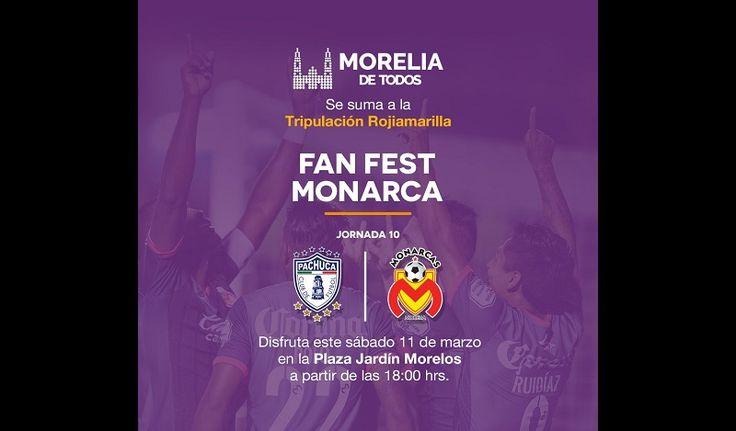 Para todos los aficionados al futbol, el Ayuntamiento de Morelia en coordinación con el Equipo de la Fuerza, transmitirán en pantalla gigante colocada en la Plaza Jardín Morelos, el partido ...
