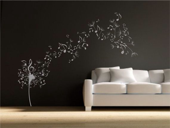 Cool flower and music note design