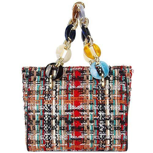 84224fb726b2 PACO TORA Crossbodys Bag for Women Square Shoulder Bag Tweed ...