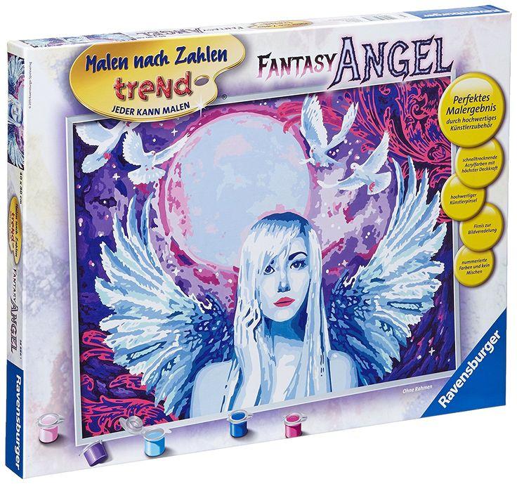 Ravensburger 28886 - Fantasy Angel - Malen nach Zahlen Trend, 30 x 40 cm: Amazon.de: Spielzeug