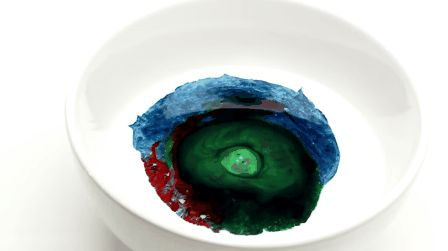 Blow someone's mind with milk, food coloring, and soap.