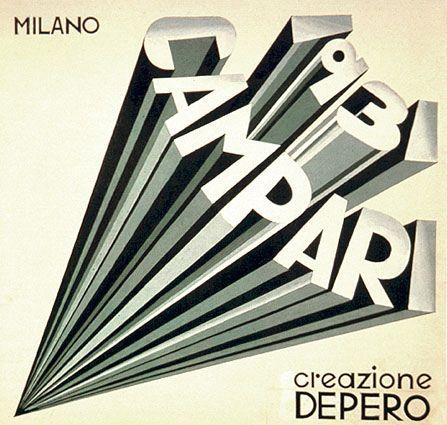 Futurist book design and typography F.-Depero