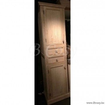 ll-bath-032kl-lee&lewis badkamer kolomkast in white washed eik landelijke cottage stijl