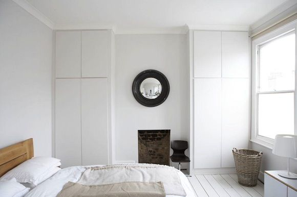 Built in wardrobes whilst keeping chimney breast.