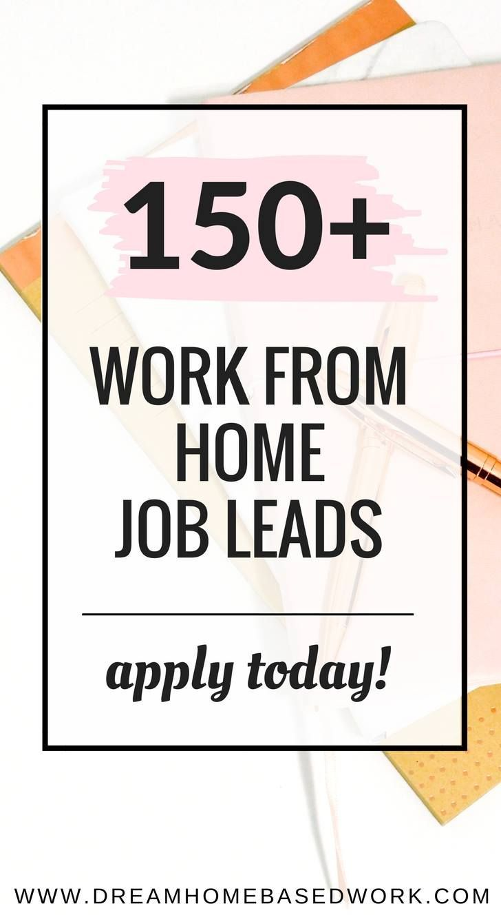 150+ Places To Find Home Based Job Leads | Home based jobs | Pinterest