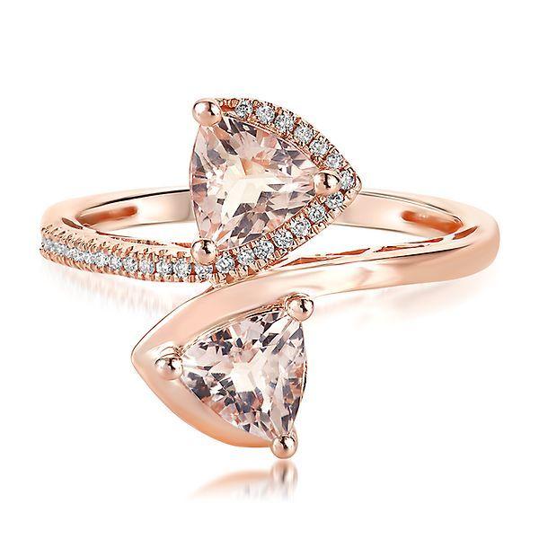 Diamoire Jewels Swarovski Zirconia Solitaire Ring in 10Kt Rose Gold - UK U - US 10 1/4 - EU 62 3/4 yLuANPPEm2