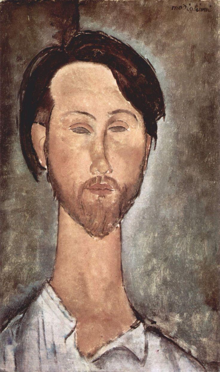 [Amedeo Modigliani] Portrait of Leopold Zborowski, 1918