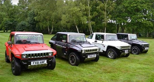 MEV HUMMER HX all lined in a row. Prindiville MEV's UK distributor.