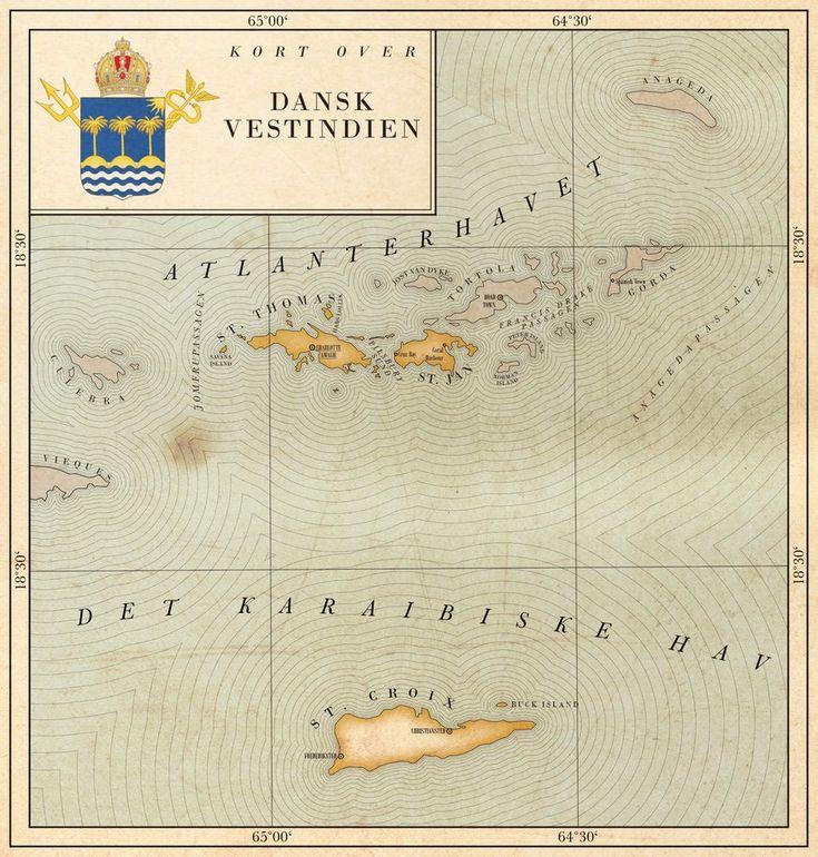 Map of the Danish West Indies by Regicollis (deviantart)