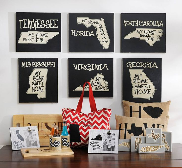 Need State Pride Decor? From Decorative Pillows And Plaques, To Koozies And  Totes, We Can Help You Show Some Love For Your State At Home Or On The Go!
